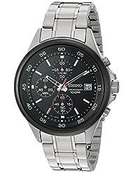 Seiko Men's Chronograph 100m Quartz Stainless Steel Watch SKS491