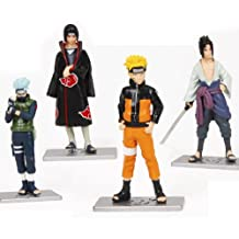 Aisunny Japanese Anime Naruto Figures Collection Figurines 4Pc Set , Kakashi Uzumaki Naruto Sasuke