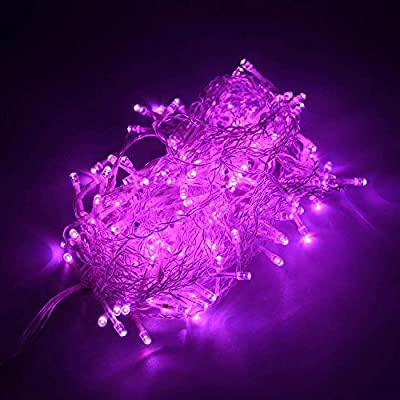 lederTEK Pink Curtain Icicle String Lights 144 LED 4 x 0.6m Fairy Decorative Christmas Lighting With 8 Modes& Tail Plug For Indoor, House, Home, Bedroom, Wedding, Party, Holiday, Seasonal Decorations