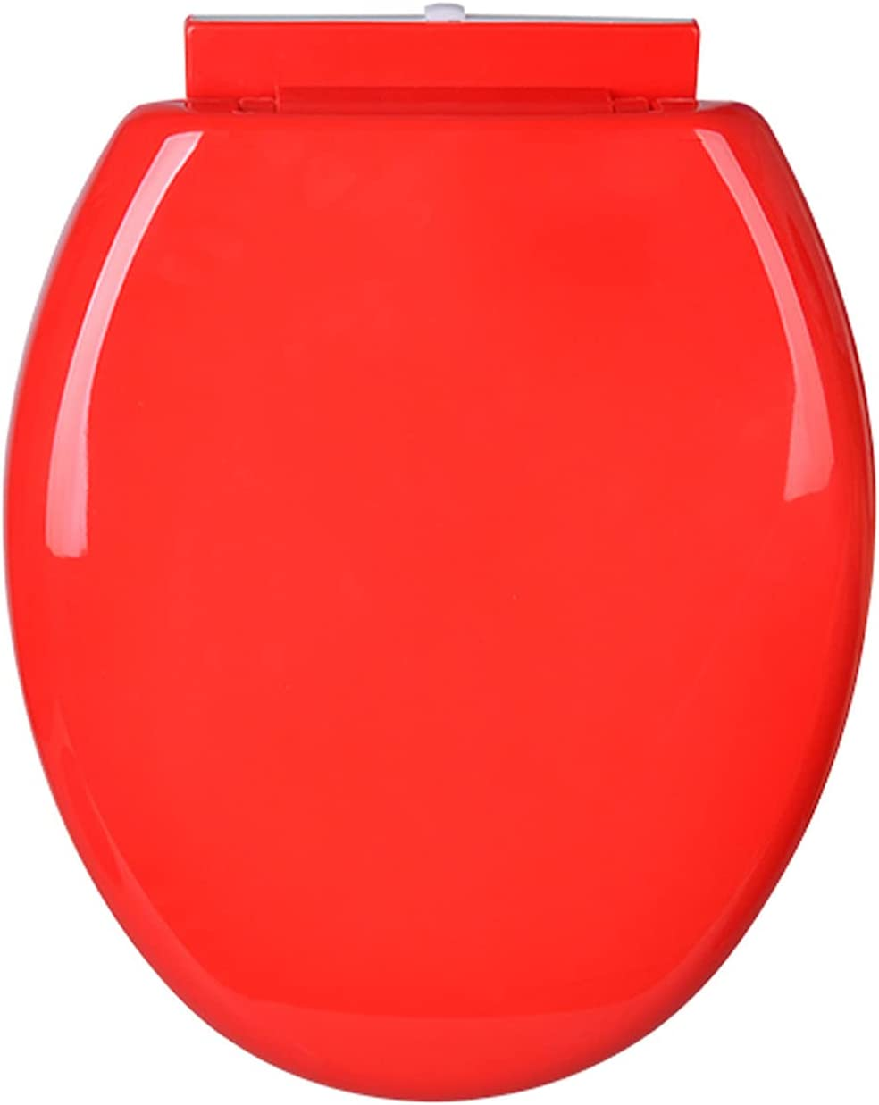 WEITONG Color Toilet Seat, Round Toilet Seat Slow Close,and Removes Easy for Cleaning, Thicken Toilet Seat,Loads Up to 400 Lb (Yellow, Red, Green, Blue, Purple)