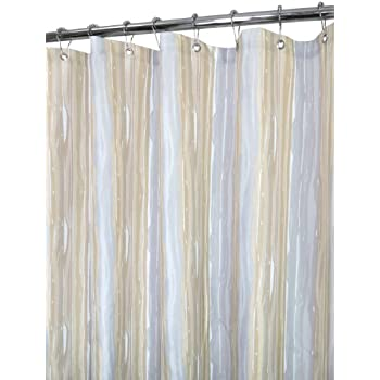 Park B. Smith Washed Stripe Shower Curtain, Linen