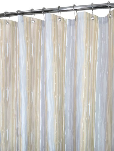 Park B. Smith Washed Stripe Shower Curtain, Linen (Shower Watershed Curtain Smith)