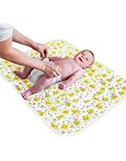 """Changing Pad Portable for Home & Travel - Large Size 31.5""""x25.5"""" - Biggest Waterproof Changing Mat - Changing Pad Cover - Diaper Storage Bag - Change Diaper in Any Places Car Stroller Bed"""