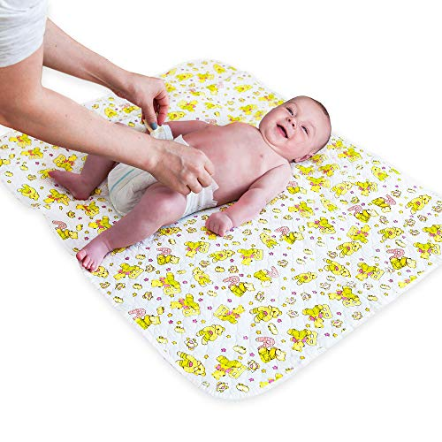 "Portable Changing Pad Biggest Changing Mat to Change Diaper (25.5""x31.5"") Waterproof Change Mat for Any Places Home Travel Bed Play Stroller Crib Car Mattress - Unisex Changing Pad Cover Boys Girls"