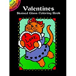 Valentines Stained Glass Coloring Book (Dover Stained Glass Coloring Book)