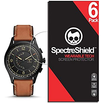 Spectre Shield (6 Pack) Screen Protector for Fossil Hybrid Smartwatch Q Activist Accessory Fossil Hybrid Smartwatch Q Activist Case Friendly Full ...