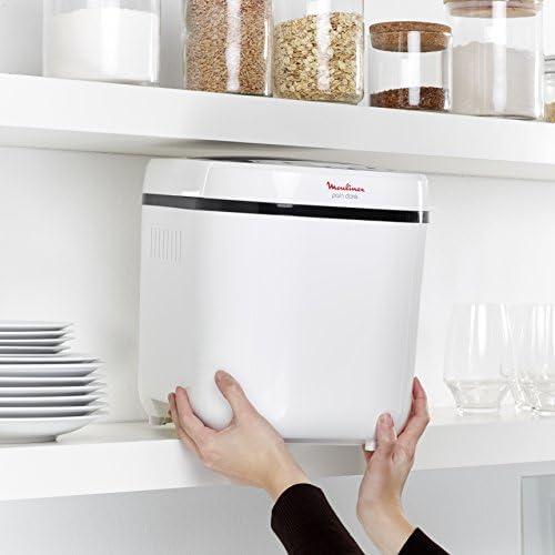 Moulinex OW210130 Machine à Pain 12 Programmes Plastique Blanc 31 x 29 x 29 cm