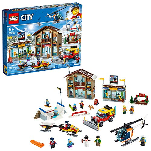 LEGO City Ski Resort 60203 Building Kit Snow Toy for Kids (806Piece) (Best Cheap Ski Resorts)