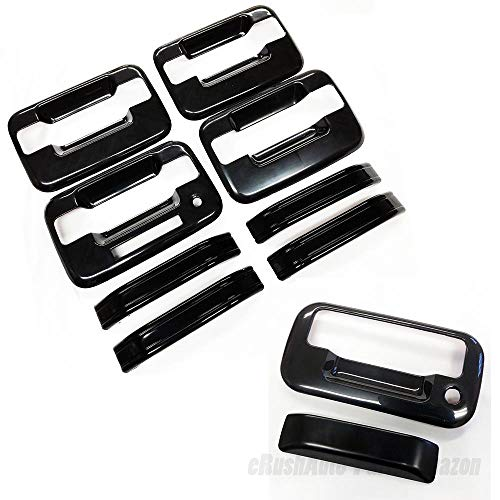 Handle 150 Door Cover - erushautoparts Black Tailgate Cover+Door Handle Covers Compatible with Ford Truck