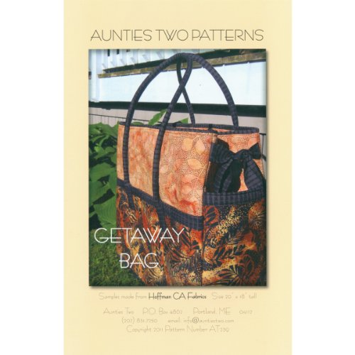 Aunties Two Patterns - Getaway Bag - Central Pattern