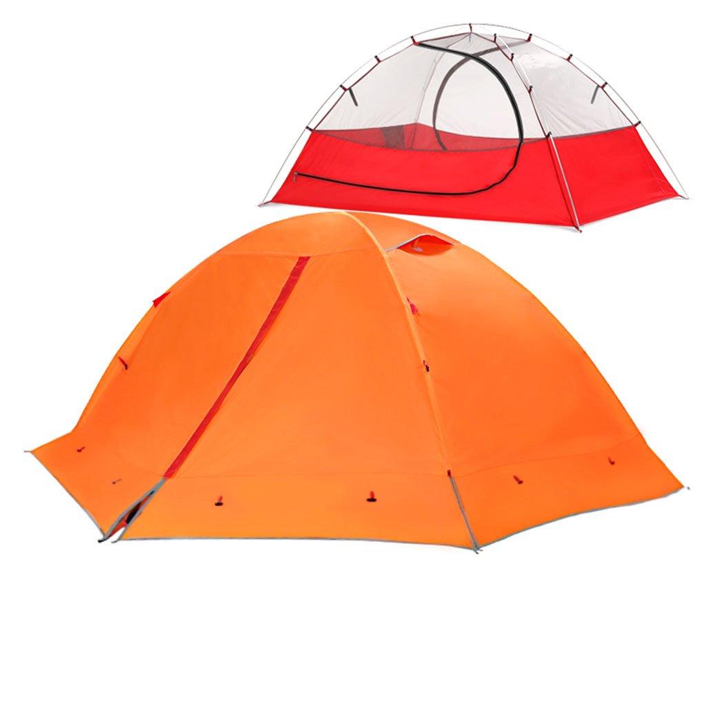 TENT-L ZP Zelt, Zelt im Freien Sturm Prävention Ultralight Hand Ride Aluminium Rod Individuelle 2 Personen Camping huwaizhangpeng (Farbe : Orange, größe : 2)