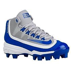 Nike Boy's Huarache 2kfilth Pro (Gs) Baseball Cleat, Wolf Greygame Royalwhite, 1.5 Us