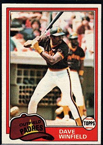 Dave Winfield Baseball Cards - Baseball MLB 1981 Topps #370 Dave Winfield Padres