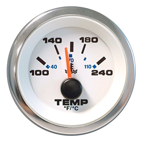 Sierra International 62540P White Premier Pro Water Temperature Gauge, 2
