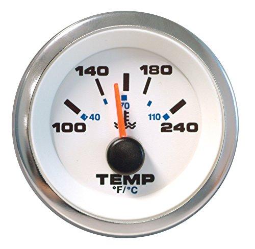 2 Sierra International Heavy Duty Electric 280 Degree F Water Temp Gauge for Inboard /& Diesel Engines