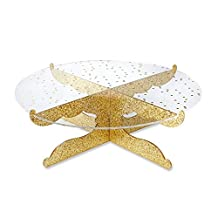 Kate Aspen 18132GD Party Time Gold Glitter Acrylic Cake Stand