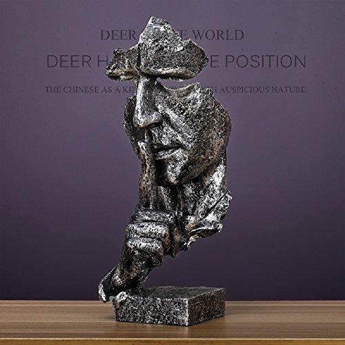 Cheap  RUIHAI Silence is Golden - Handcrafted Silent Men Statues Resin Abstract Sculpture..