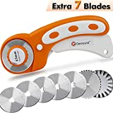 45mm Rotary Cutter, Genround Contour Rotary Cutter with 7 Replacement Rotary Cutter Blades
