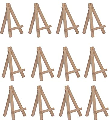SL crafts 2.75 Inch By 4.7 Inch Mini Wooden Easels Display (Pack of 12 Easels) from Yongkang juxuan trading Co.