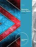 Elementary Linear Algebra.