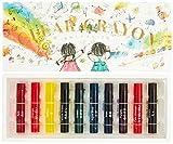 Transparent crayons 10 color set KE-AC27 Kokuyo