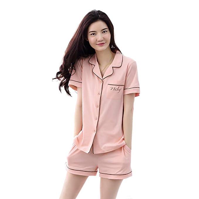 0ced995def42 Pijamas Mujer Mujer Verano Algodon Pijama Elegantes V-Cuello Chic ...