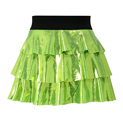 [High Quality Light Green Glitter and Sparkle Running Skirt Tutu, Size Large] (80s Rock N Roll Costumes)