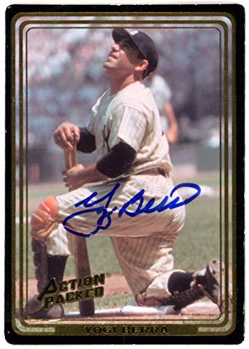 - Yogi Berra Autographed 1992 Action Packed Card #1 New York Yankees Steiner SKU #126212