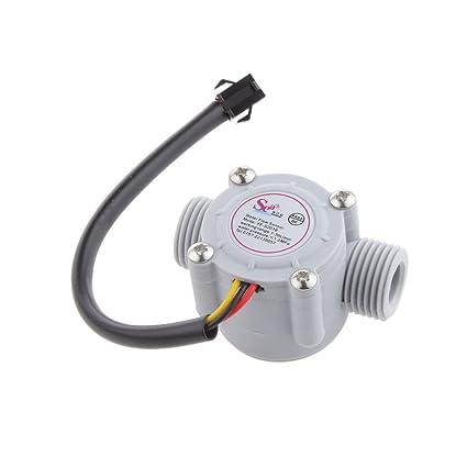"""Sensor de Flujo de Agua 1/2"""" Roscado Hall Caudalímetro de Control de Agua"""