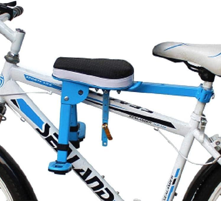bouncevi Asiento De Bebé para Bicicleta Portabebés De Seguridad para Niños Asiento Delantero Cojín De Silla De Montar con Respaldo Pedales De Pie Dispensadores richly: Amazon.es: Deportes y aire libre