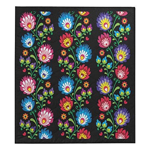 InterestPrint Long Polish Folk Art Comforter Set Thin Quilt Lightweight Comforter