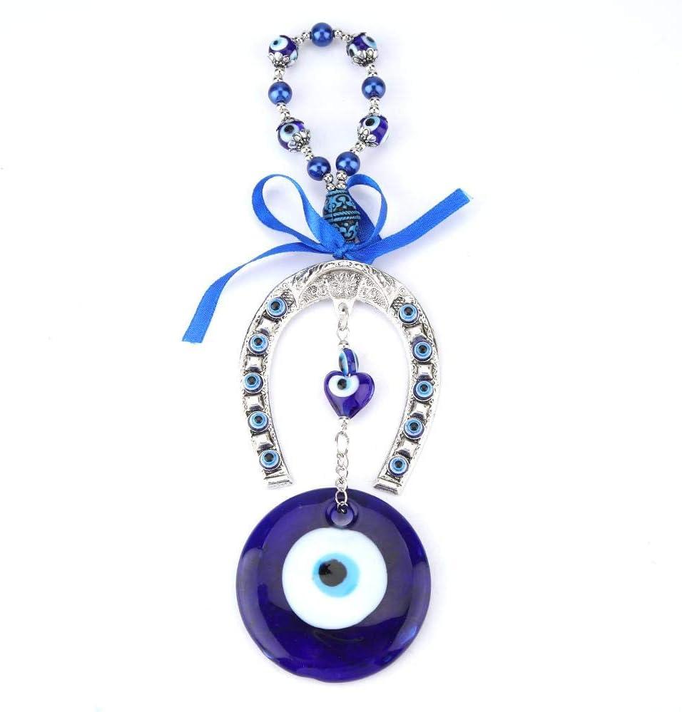 Fydun Colgante de Mal de Ojo, Amuleto de bendición de Mal de Ojo Azul Turco para Colgar en la Pared, Protector de decoración del hogar, Colgante de Coche para decoración del hogar musulmán