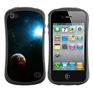 Be-Star Impreso Colorido Diseño Antichoque Caso Del iFace Primera Clase Tpu Carcasa Funda Case Cubierta Par Apple iPhone 4 / iPhone 4S ( Space Fire Planet Galaxy )