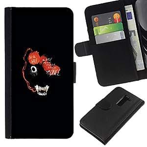 All Phone Most Case / Oferta Especial Cáscara Funda de cuero Monedero Cubierta de proteccion Caso / Wallet Case for LG G2 D800 // ABSTRACT DARK WOLF ANIMAL FACE