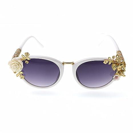 Aihifly Nuevas Gafas de Sol Gafas de Sol barrocas de Metal ...