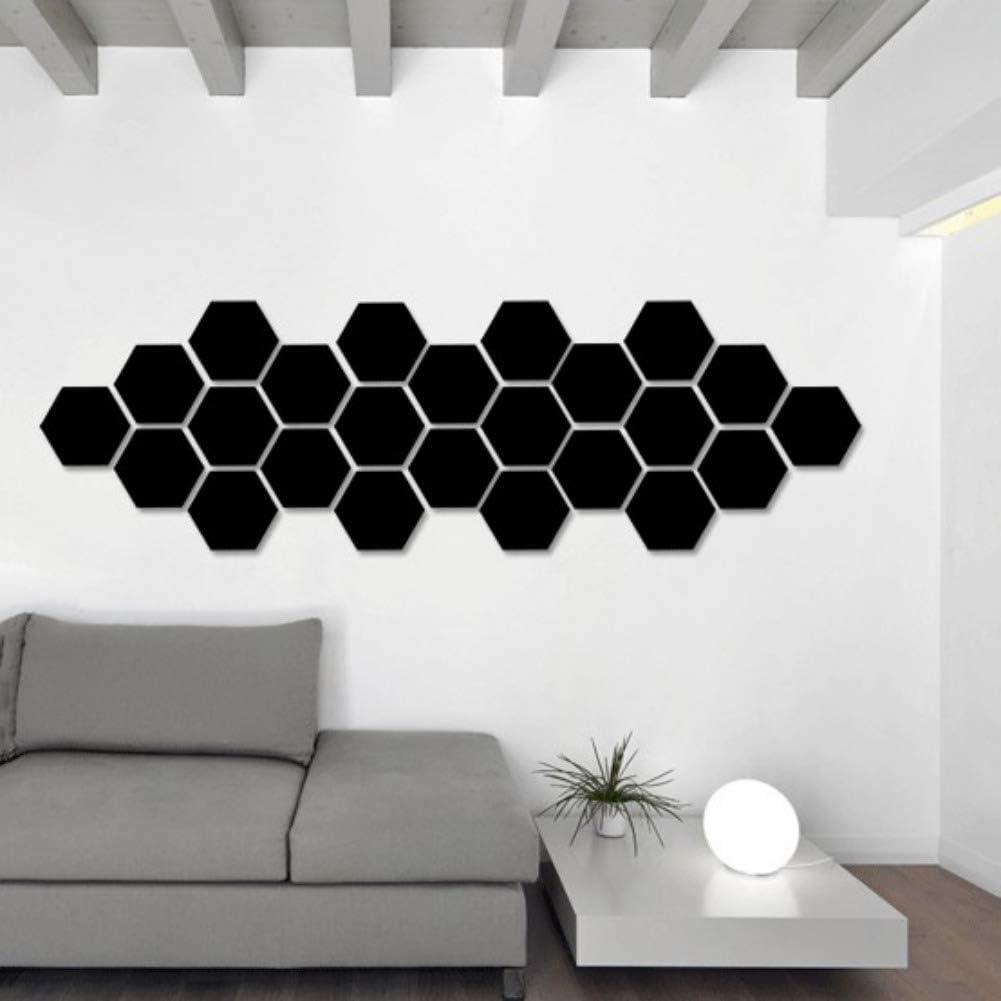 12 piezas espejo acr/ílico pegatinas de pared autoadhesivo extra/íble hexagonal espejo decorativo hoja para el hogar sala de estar dormitorio decoraci/ón por mosca