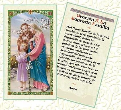 Amazon.com: Oracion a La Sagrada Familia Tarjeta de Rezo ...