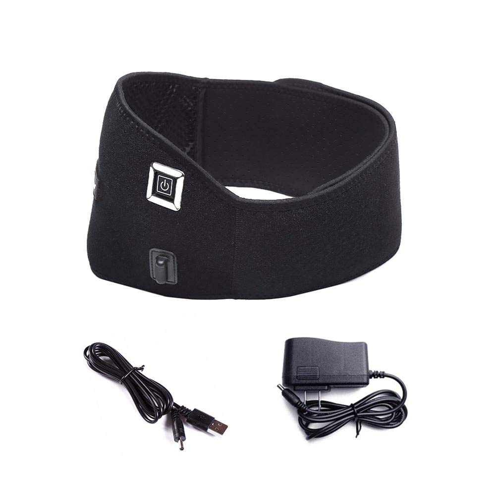 Electric Heating Waist Belt Rechargeable Lumbar Disc Moxibustion Care Device, Body Grooming Equipment ((US Plug) Fancylande