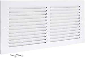 EZ-FLO 61628 Return Air Grille, 14 inch x 6 inch Opening, White