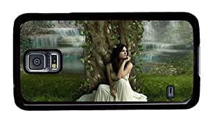 Sale Samsung covers awesome The girl sitting under a tree PC Black for Samsung S5,Samsung Galaxy S5,Samsung i9600