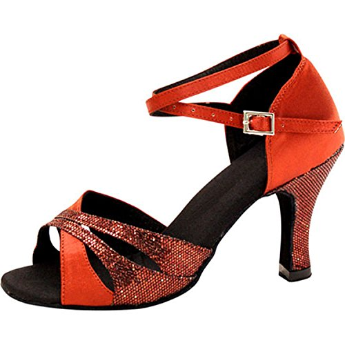 Dance femmes Dance latine danse red Cadeaux danse YFF 35 Tango 7 chaussures 5CM xf5AREnY