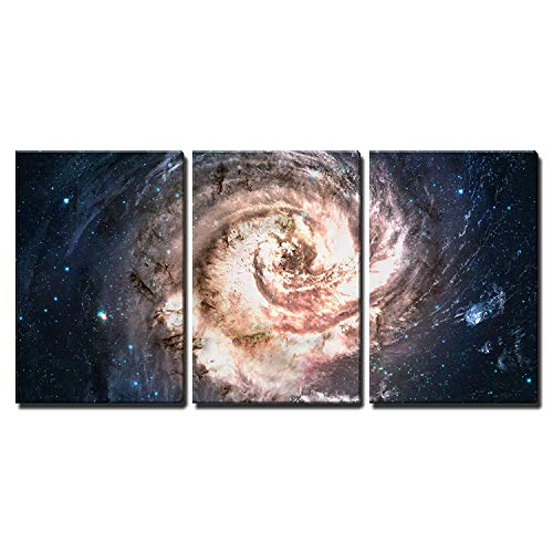 Incredibly Beautiful Spiral Galaxy Somewhere in Deep Space x3 Panels