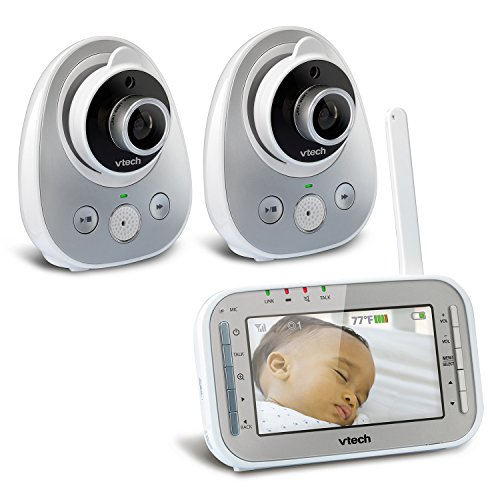 vtech-vm342-2-safe-sound-expandable-digital-video-baby-monitor-with-2-cameras-standard-lens-and-wide