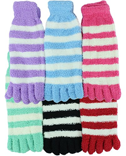 Fuzzy Toe Socks by bogo Brands (Colors May Vary, 6 ()
