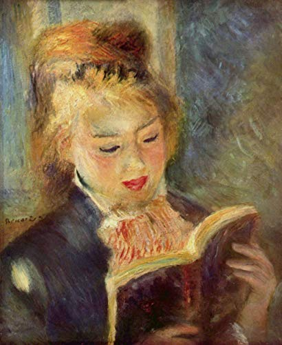 Home Comforts Peel-n-Stick Poster of Renoir, Pierre -Auguste - Girl Reading [2] Vivid Imagery Poster 24 x 16 Adhesive Sticker Poster -