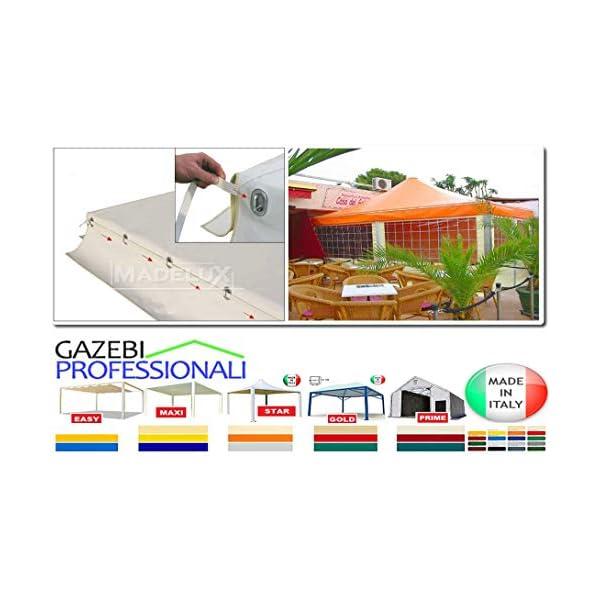 MadeluX Gazebo 6x6 Professionale Certificato e Personalizzabile Stand Eventi Pagoda ignifugo Padiglione pergola tettoia… 7 spesavip
