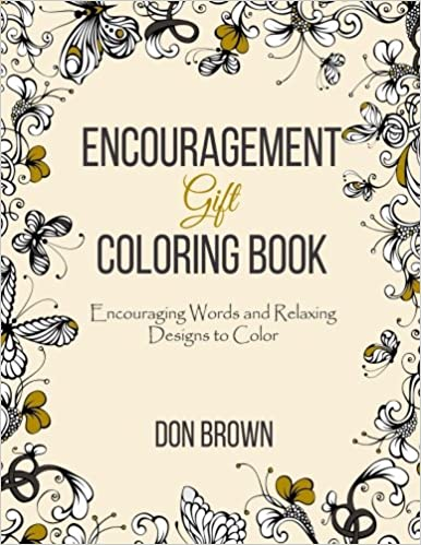 amazon com encouragement gift coloring book encouraging words and