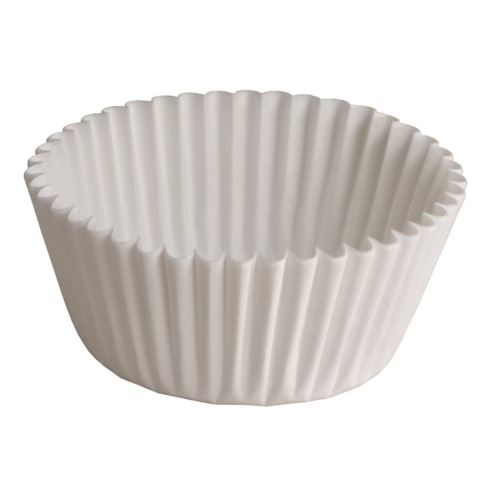 Hoffmaster 610031 Fluted Bake Cup, 2-Ounce Capacity, 4-1/2'' Diameter x 1-5/16'' Height, White (20 Packs of 500)
