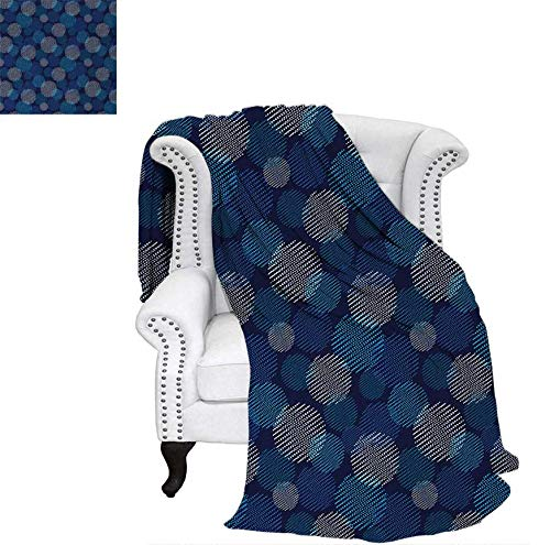 Summer Quilt Comforter Modern Digital Featured Polka Dots Extravagant Dotted Circles Digital Printing Blanket 60