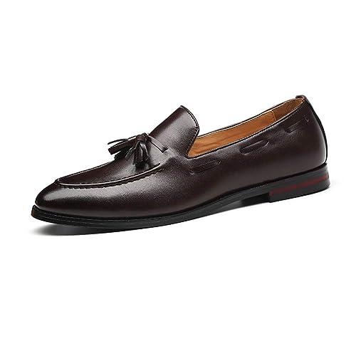 NXY De los Hombres Cuero Borla Mocasín Inteligente Plano Ponerse Comodidad Casual Zapatos: Amazon.es: Zapatos y complementos